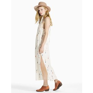 Embroidered Apron Dress   Lucky Brand