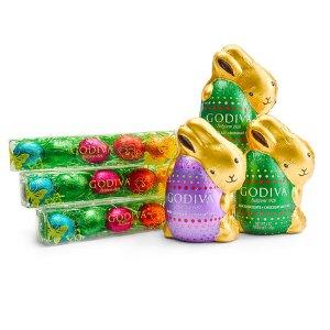 Assorted Chocolate Eggs and Bunnies Gift Set, 6 pc.   GODIVA
