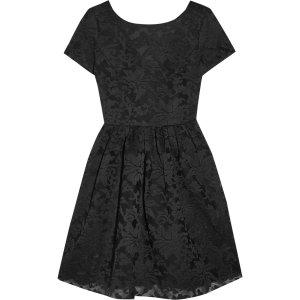 Embroided tulle mini dress