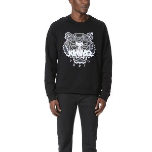 KENZO                                                          Check Tiger Crew Neck Sweatshirt