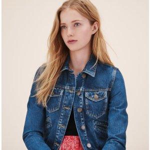 VIVA Denim jacket - Coats & Jackets - Maje.com