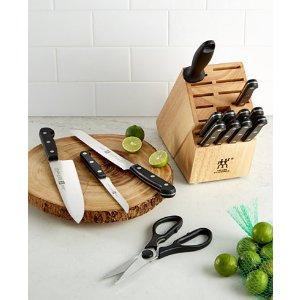 Twin Gourmet Knife Block Set, 15 Piece