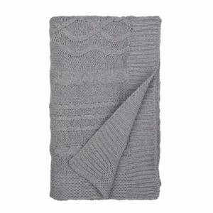 Cable Knit Stroller Blanket