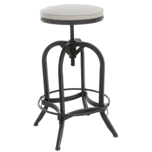 Denise Austin Home Brixton Industrial Design Adjustable Swivel Iron Bar Stool in - Industrial - Bar Stools And Counter Stools - by GDFStudio