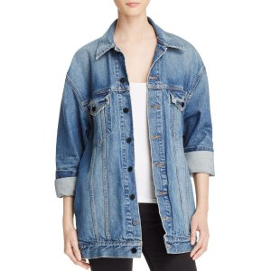 T by Alexander Wang Daze Denim Jacket in Light Indigo Aged | Bloomingdale's