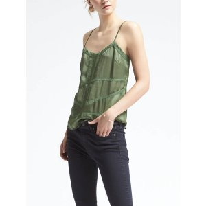 Lace-Trim Cami | Banana Republic