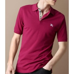 Burberry Campton Oxford Core Gingham Inset Polo