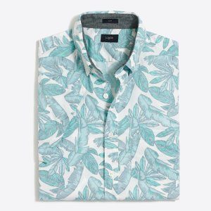 Slim short-sleeve printed shirt : FactoryMen Shirts | Factory