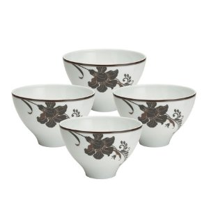Buy Cocoa Blossom Large Rice Bowls, Set of 4 online at Mikasa.com