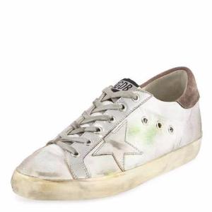 Superstar Fabric/Metallic Low-Top Sneaker, Silver