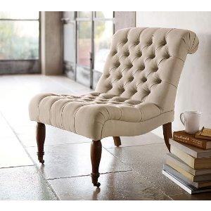 Carolyn Tufted Slipper Chair | Pottery Barn