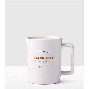 Matte White Handle Mug