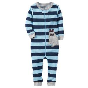 Baby Boy 1-Piece Snug Fit Cotton Footless PJs | Carters.com