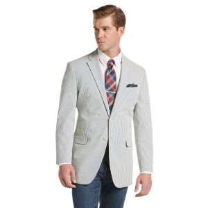 1905 Seersucker Striped Tailored Fit Sportcoat CLEARANCE - All Clearance | Jos A Bank