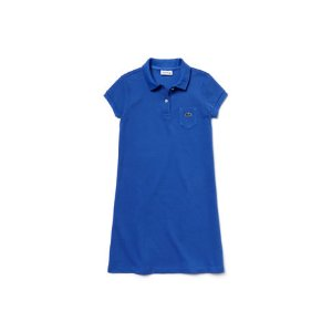 Girl's Solid Petit Piqué Cotton Flared Dress | LACOSTE