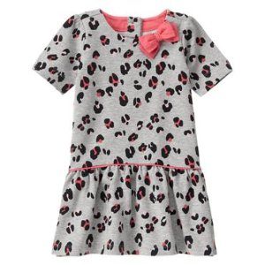 Toddler Girls Grey Leopard Print Dress by Gymboree