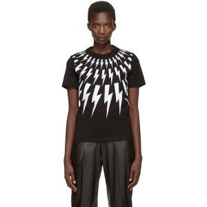 Neil Barrett: Black Thunderbolt T-Shirt