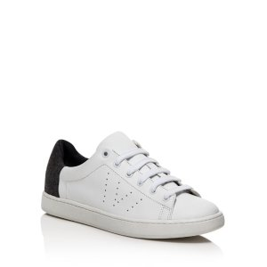 Vince Varin Flannel Detail Low Top Lace Up Sneakers | Bloomingdale's