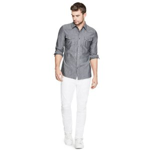 Western Slim Denim Shirt