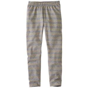 Girls Glitter Stripe Livable Leggings | Sale Clearance Girls Pants