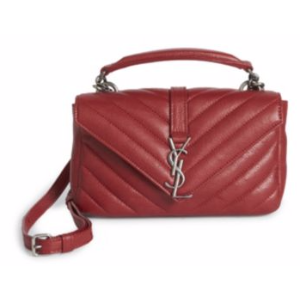 Saint Laurent - College Monogram Matelass� Leather Chain Shoulder Bag - saks.com