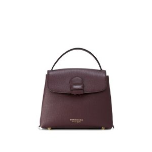 Burberry Derby Leather House Check Small Camberley Tote