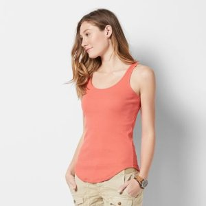 Women's SONOMA Goods for Life™ Scoopneck Ribbed Tank