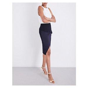 TED BAKER - Asymmetric crepe skirt