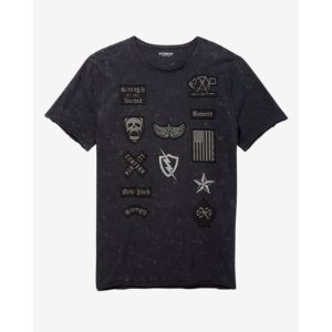 Patch Embellished Graphic T-shirt   Express