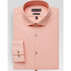 Calvin Klein Orange Extreme Slim Fit Dress Shirt - Men's Active Jeans | Men's Wearhouse