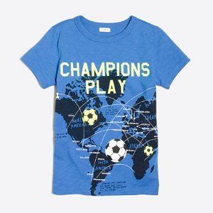 Boys' glow-in-the-dark soccer balls map storybook T-shirt : storybook t-shirts | J.Crew Factory