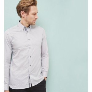 TIDAL Geo print cotton poplin shirt