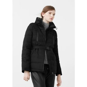 Belted feather down coat - Women | OUTLET USA