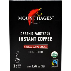 Mount Hagen Organic Fair Trade Instant Coffee -- 25 Packets