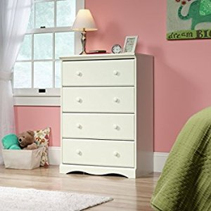 $80.15 (Orig $121.55) Lowest price Sauder Pogo 4 Drawer Chest In Soft White with Four Drawers