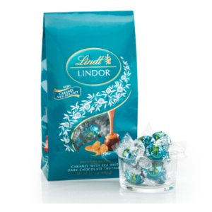 Caramel with Sea Salt Dark LINDOR Truffles 75-pc Bag (31.7 oz) | Lindtusa