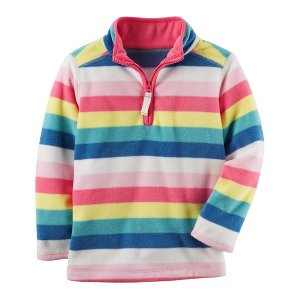 Striped Fleece Pullover