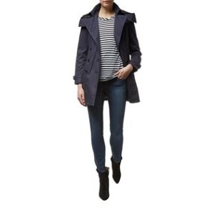 Burberry Reymoore Trench Coat with Quilted Warmer