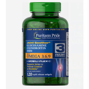 Glucosamine, Chondroitin & MSM with Omega 3, 6, 9 120 Softgels
