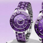 Extra $1870 off DIOR New Christal Purple Diamond Dial Ladies Watch Item No. CD143112M001