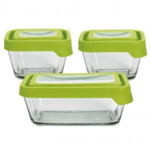 Anchor Hocking TrueSeal Rectangular 6pc Set with Green Lids - Summer Black Friday - Sale