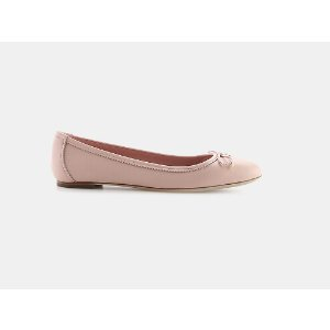 Salvatore Ferragamo Enea Scalloped Bow Flat Flats | ELEVTD Free Shipping & Returns