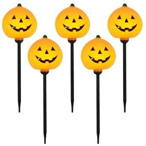 5ct Halloween Pumpkin Pathway Marker Lights - Hyde and Eek! Boutique™
