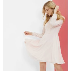Frill detail dress - Pink | Dresses | Ted Baker