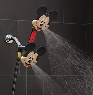 """被粉丝称为""""颜射""""的洗澡神器!$33.33 (原价$50.73)Oxygenics 79368 Mickey Mouse淋浴喷头/花洒套装"""
