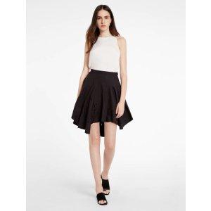 Embroidered Flounce Skirt