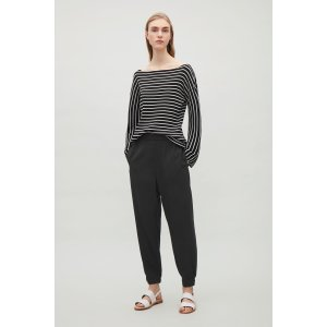 Elastic waist & cuff trousers - Black - Sale - COS US