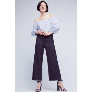 Citizens of Humanity Ultra-High Rise Cropped Palazzo Jeans | Anthropologie