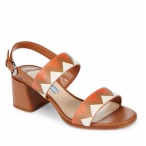 Prada - Geometric Slingback Leather Sandals - saksoff5th.com