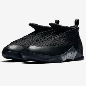 Jordan Retro 15 - Men's - Basketball - Shoes - Black/Varsity Red/Anthracite